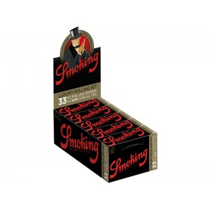 Smoking Deluxe -  Luxury Rolling Kit 33 Blättchen + 33 Conical Tips