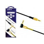 "SUNIX- AC-02 ""Stereo AUX Cable - Winkelstecker"" 3,5mm - 1m"