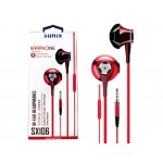 "SUNIX- SX106 - In-Ear Headphones ""Rot"" - 3,5mm"