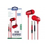 "SUNIX- SX105 -Super Bass - Headphones ""Rot"" - 3,5mm"