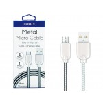 SUNIX- SC-12- Micro USB-Metall-Kabel- highspeed 2 Ampere- 1m