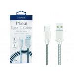 SUNIX- SC-14- USB-TYPE-C-Metall-Kabel- highspeed 2 Ampere-1m