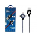 "SUNIX- SC-33 ""3-in1 -Kabel- fast charge"" -  3 Ampere- 1m"