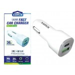 SUNIX- S-312 - FAST Car Charger - Typ C + USB Output
